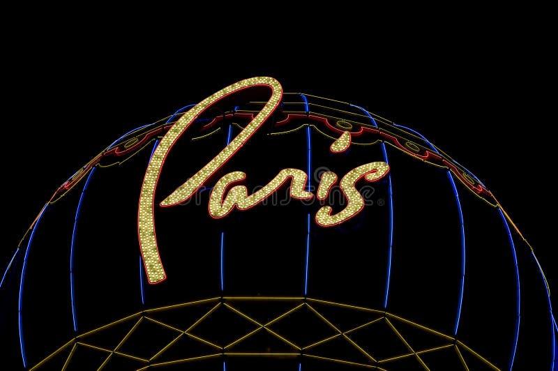 Paris Hotel and Casino Sign In Las Vegas royalty free stock photos