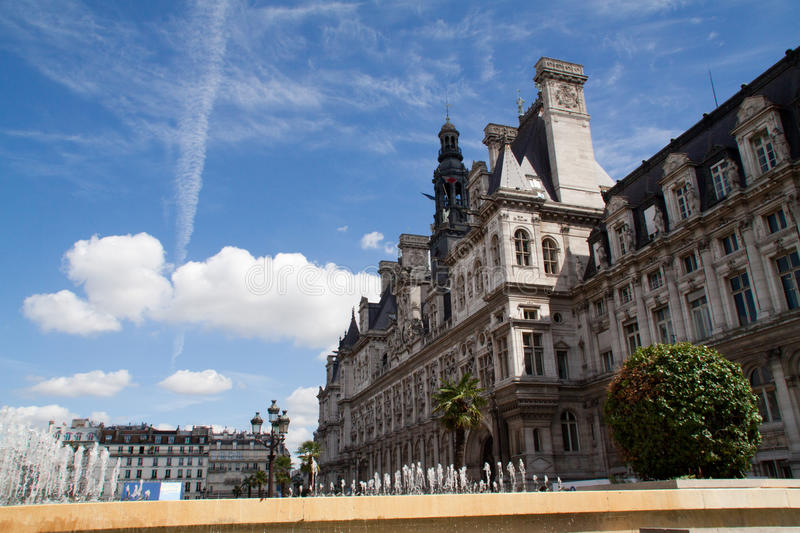 Paris-Hotel de ville stock photography