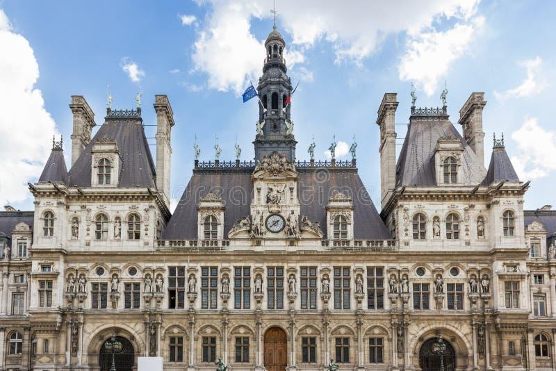 Paris, Hotel de Ville lizenzfreie stockfotos