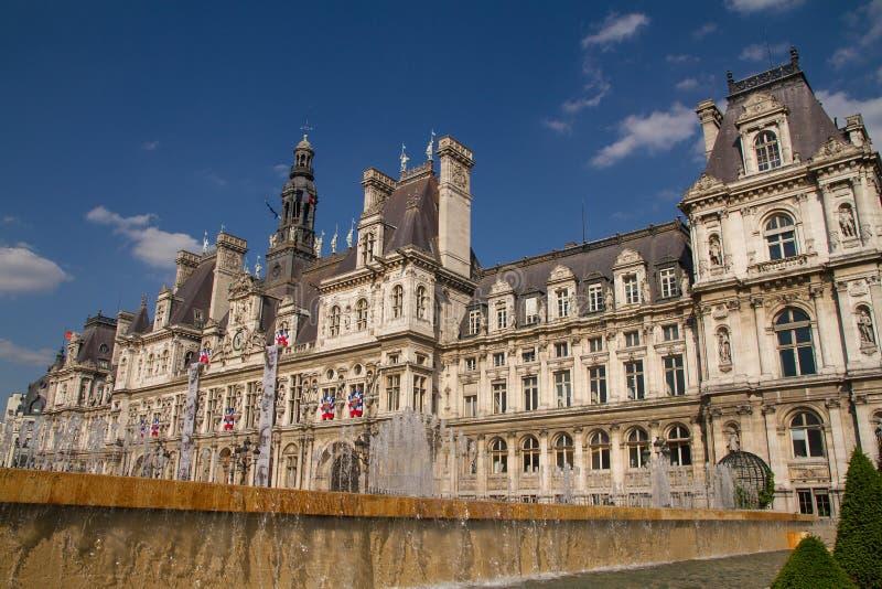Paris, Hotel de Ville stockbilder