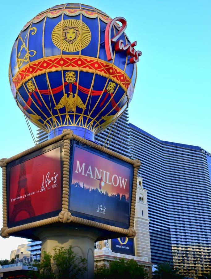 Paris Hotel Hot Air Balloon Editorial Stock Photo - Image of shops ...