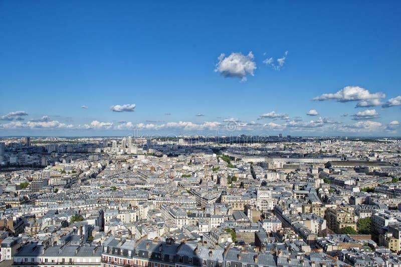 Paris huge aerial view from montmatre stock image