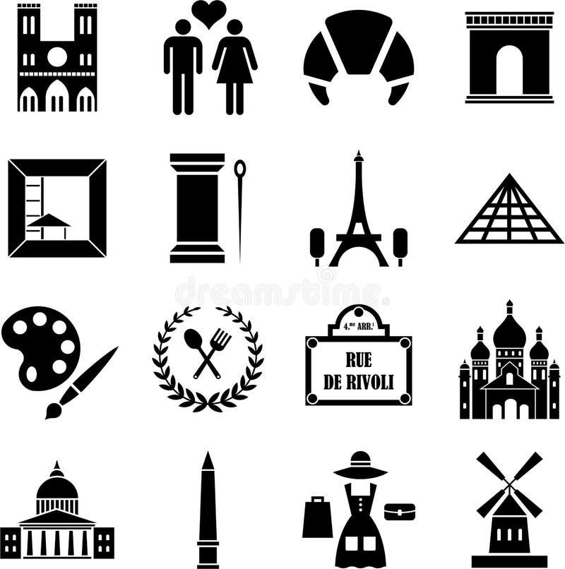 Paris Icons Stock Photography