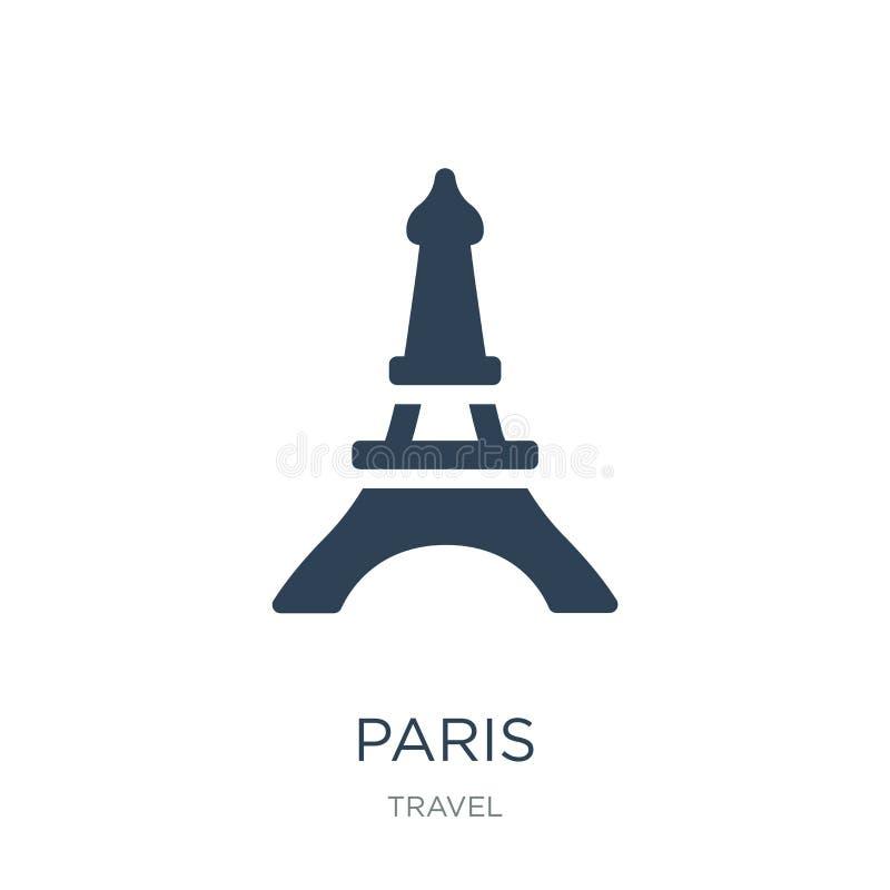 paris ikona w modnym projekta stylu paris ikona odizolowywająca na białym tle paris wektorowej ikony prosty i nowożytny płaski sy ilustracja wektor