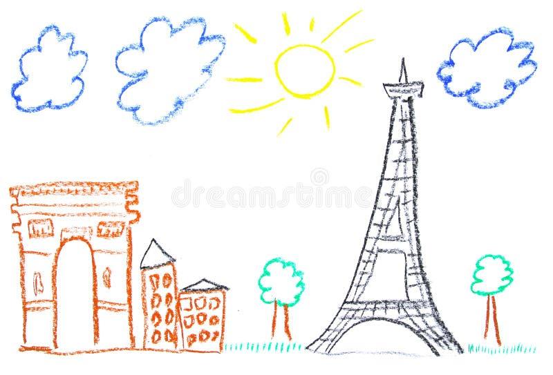 Paris illustration stock images
