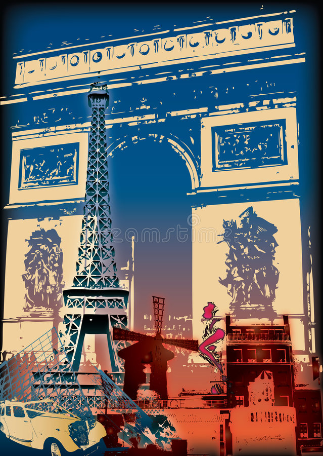 Paris illustration royalty free stock images