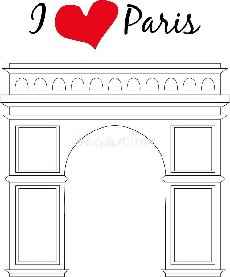 paris Ilustracje popularne atrakcje turystyczne ilustracji