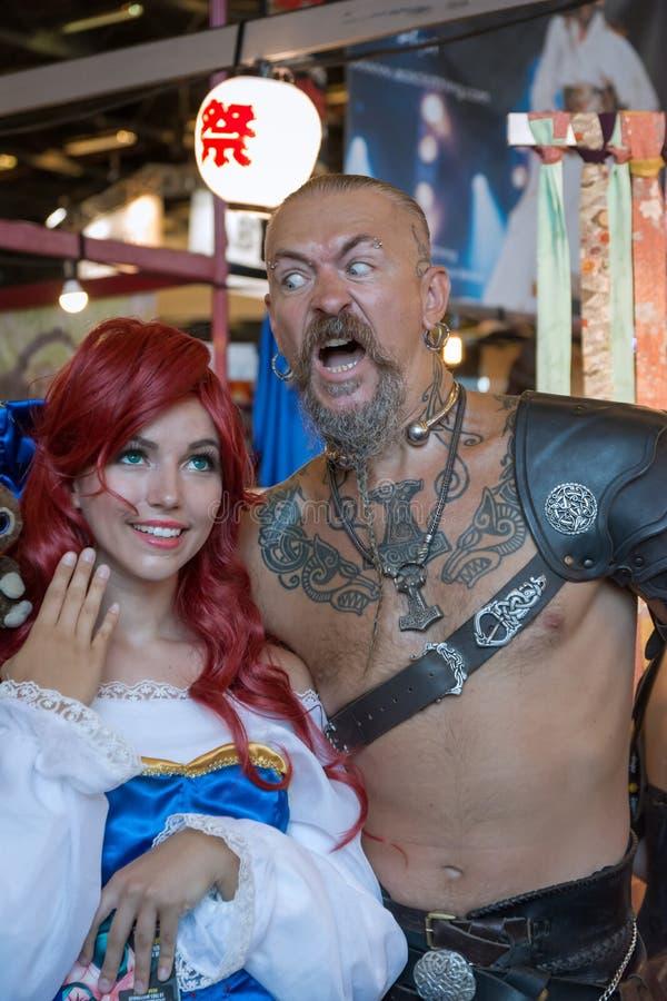 Paris - Japan Expo 2017. Japan expo, costumes, cosplay, manga and anime stock photos