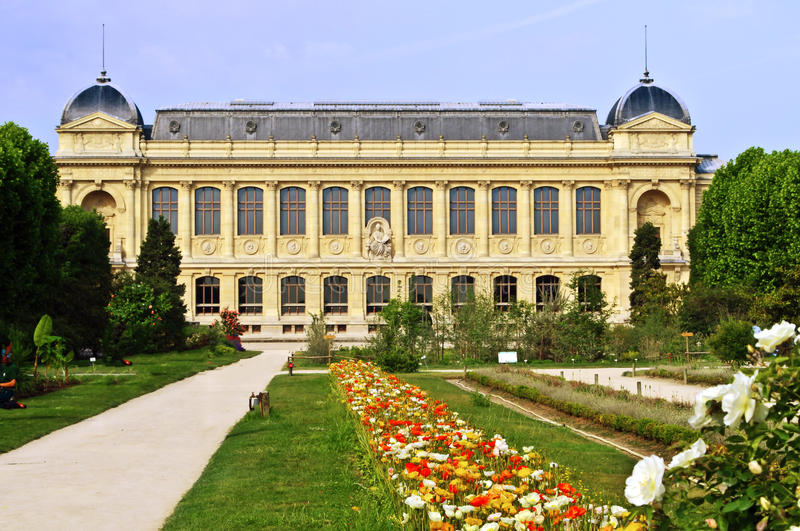 Paris, Jardin des Plantes. The Grande Galerie de L'Evolution, at the Natural History Museum of Paris, is located on the grounds of the Jardin Des Plantes, the royalty free stock image