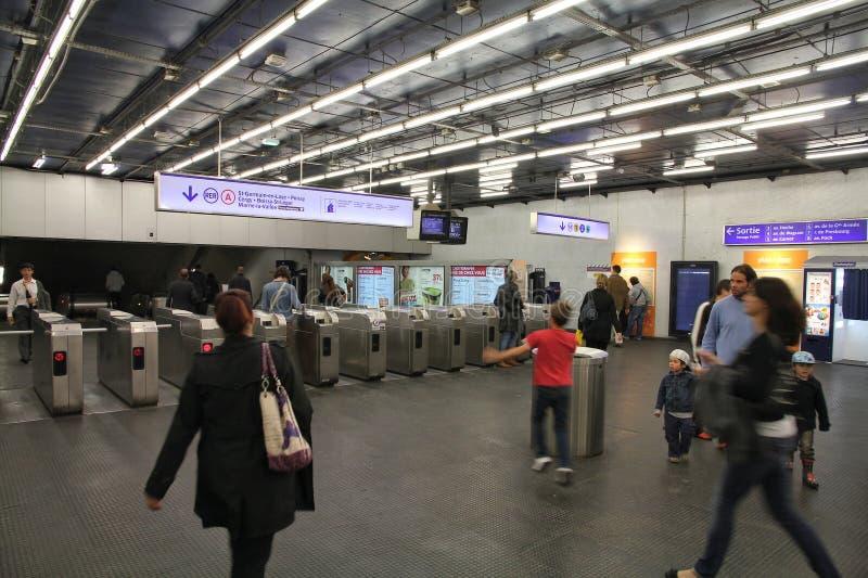 Paris-Metro stockfotos