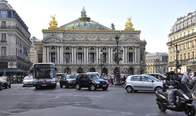 Paris,July 15th:Opera Garnier Building from Paris in France royalty free stock photo