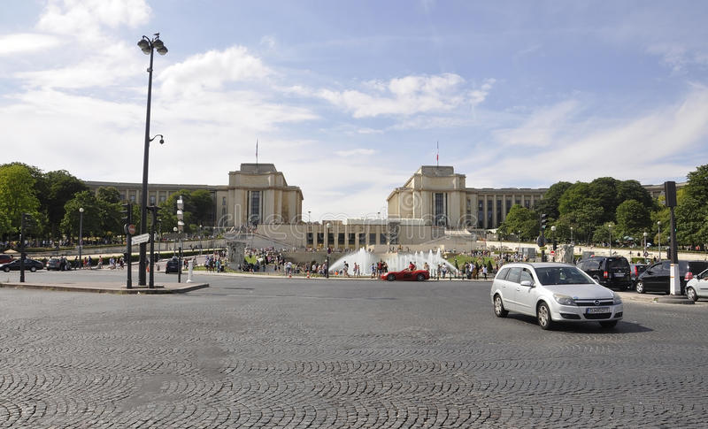 Paris,July 18th:Trocadero landscape from Paris in France royalty free stock photos