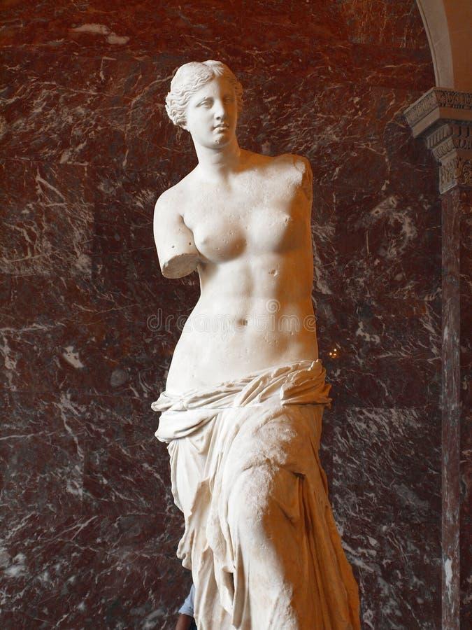 Louvre the Venus de Milo statue it's one of most important statue of the world. PARIS - JUNE 21 2012: The Venus de Milo statue. Louvre the Venus de Milo statue stock photos