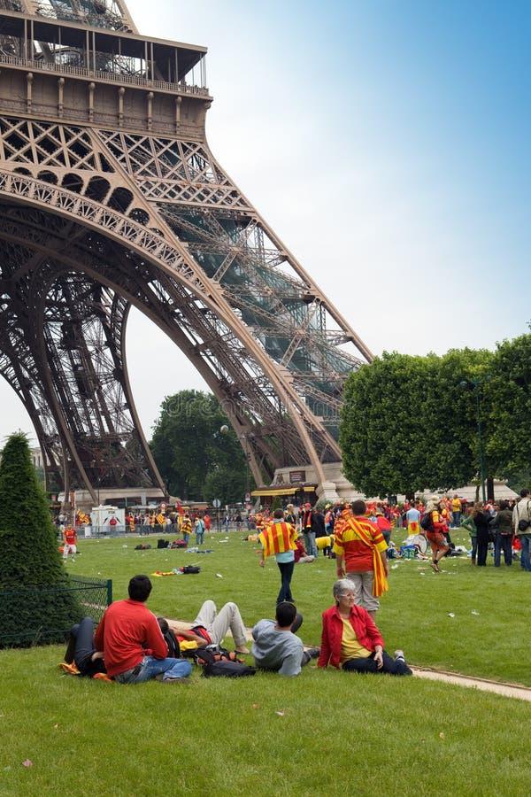 PARIS - JUNHO 6: A parte superior do RUGBY do término de 14 France fotos de stock