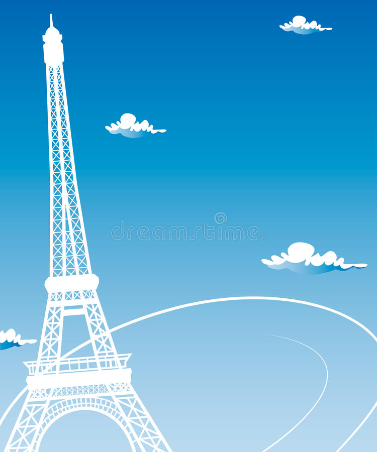 Paris kort som symbolförälskelse vektor illustrationer