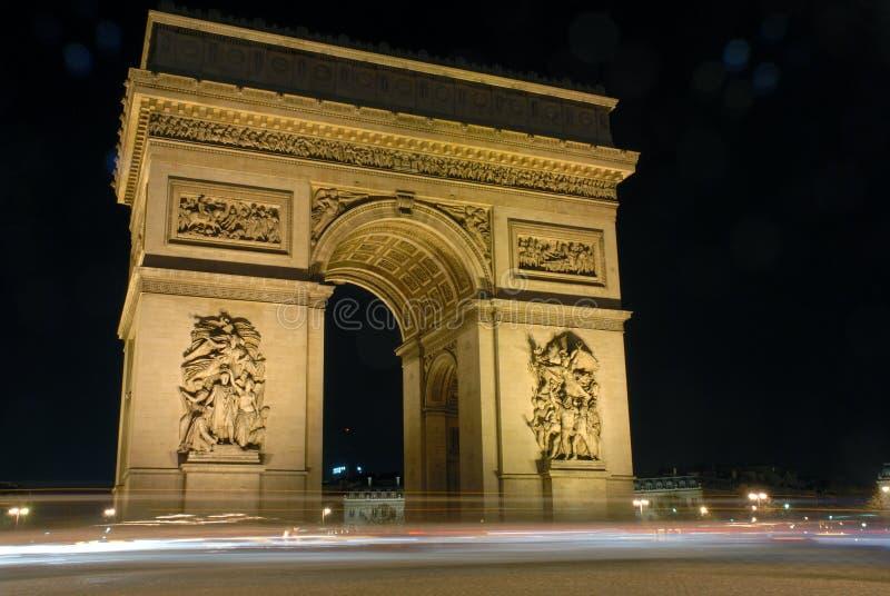 Paris, L'arc de Triomphe stockbilder