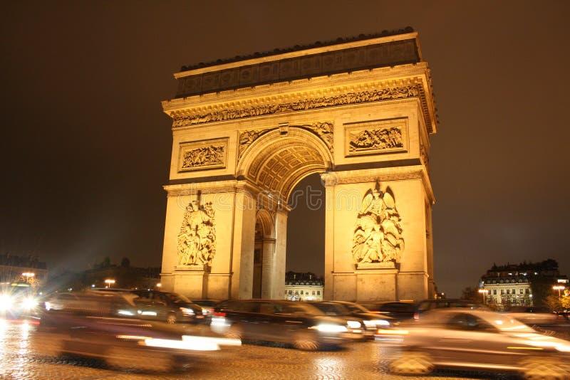 Paris la nuit photographie stock