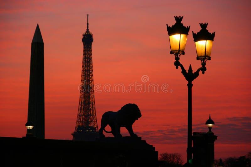 Paris La Nuit Photos libres de droits