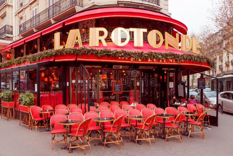 paris La Rotonde do café fotografia de stock royalty free