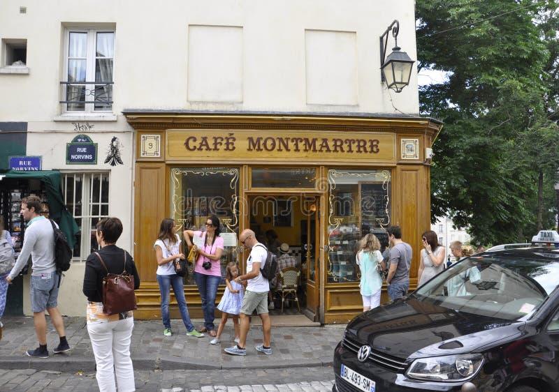 Paris, 19,2013-Landmark café auguste Montmartre dans Montmartre de Paris images stock