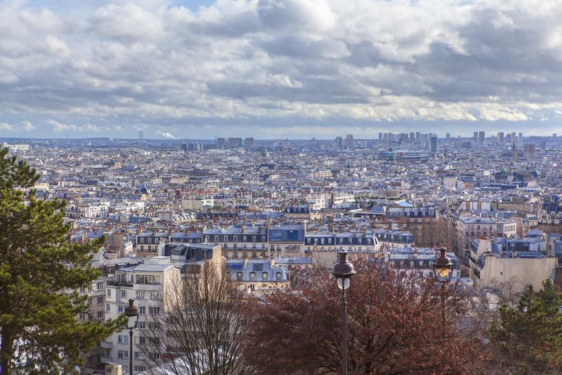 Paris landskap arkivfoton