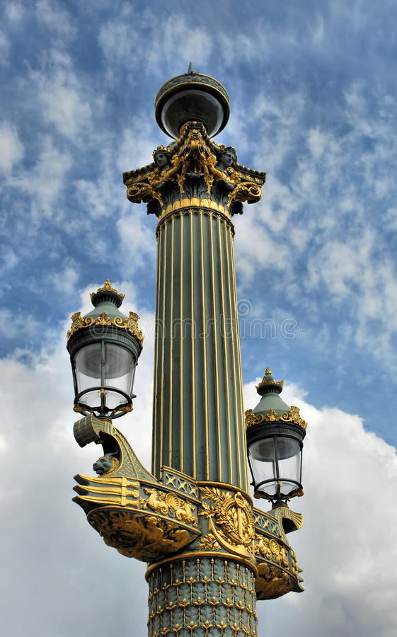 Paris lantern royalty free stock photography