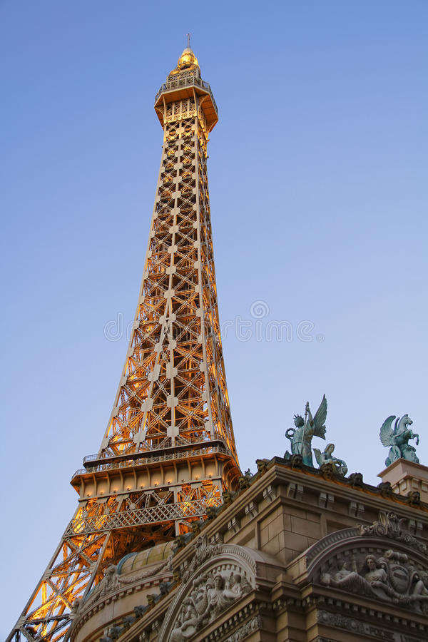 Paris Las Vegas hotel and casino. On October 08, 2016 in Las Vegas. As its name suggests, its theme is the city of Paris in France; it includes a 5/8ths scale royalty free stock images