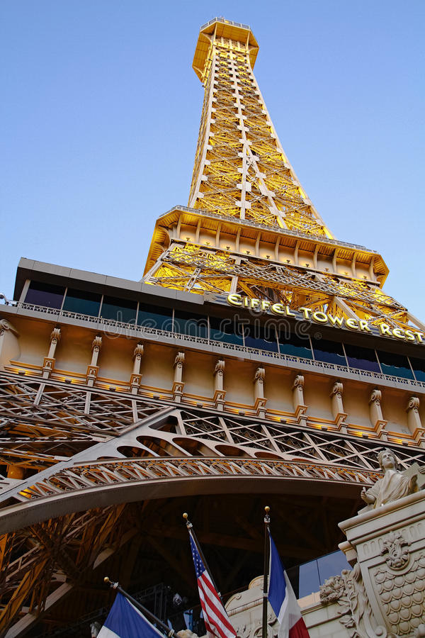 Paris Las Vegas hotel and casino. On October 08, 2016 in Las Vegas. As its name suggests, its theme is the city of Paris in France; it includes a 5/8ths scale stock images