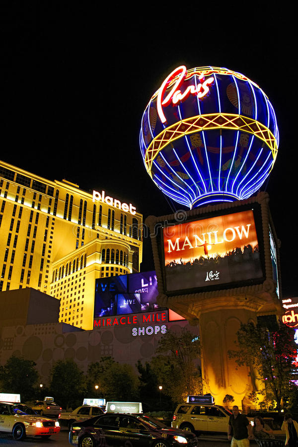 Paris Las Vegas hotel and casino. On October 08, 2016 in Las Vegas. As its name suggests, its theme is the city of Paris in France; it includes a 5/8ths scale stock image