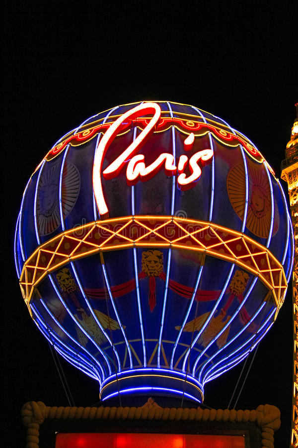 Paris Las Vegas hotel and casino. On October 08, 2016 in Las Vegas. As its name suggests, its theme is the city of Paris in France; it includes a 5/8ths scale stock photo