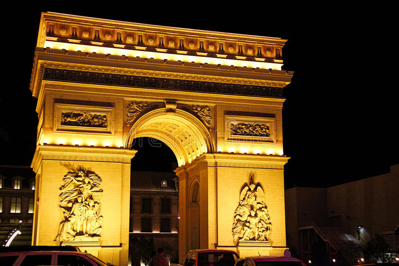 Paris Las Vegas hotel and casino. On October 08, 2016 in Las Vegas. As its name suggests, its theme is the city of Paris in France; it includes a 5/8ths scale royalty free stock image