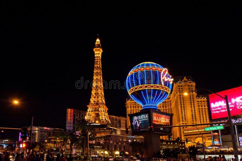 Paris Las Vegas in Las Vegas, Nevada, USA stock images