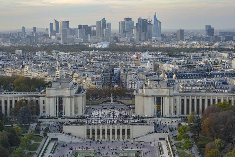 Paris, Laverteidigung, Parvis de la Defense, Paris lizenzfreie stockfotografie