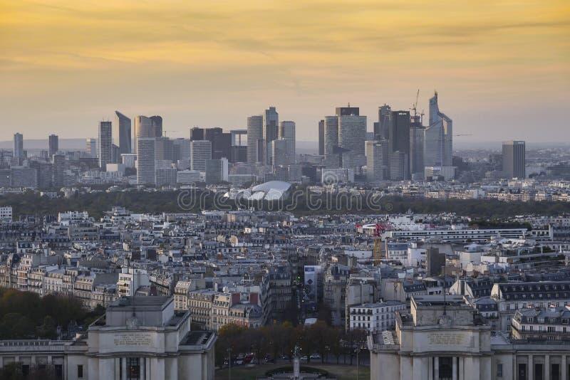 Paris, Laverteidigung, Parvis de la Defense, Paris lizenzfreie stockbilder