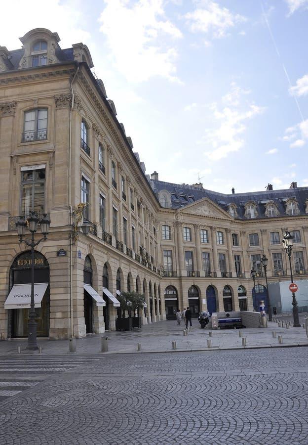 Paris, le 19 juillet : Bâtiment historique de plaza de Vendome de Paris dans les Frances photographie stock