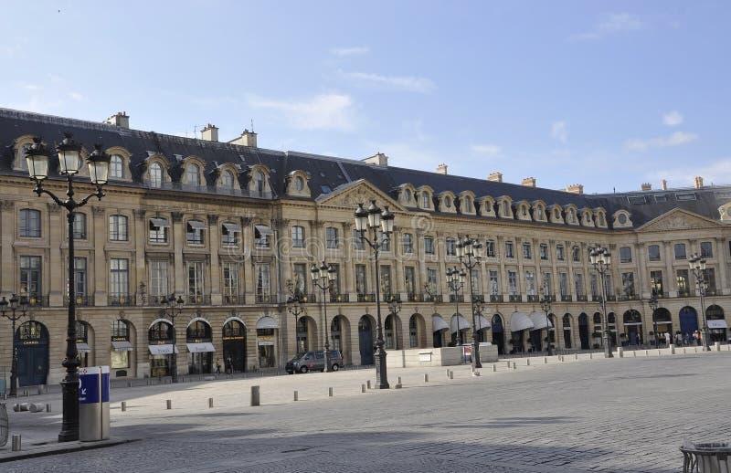 Paris, le 19 juillet : Bâtiment historique de plaza de Vendome de Paris dans les Frances photographie stock libre de droits