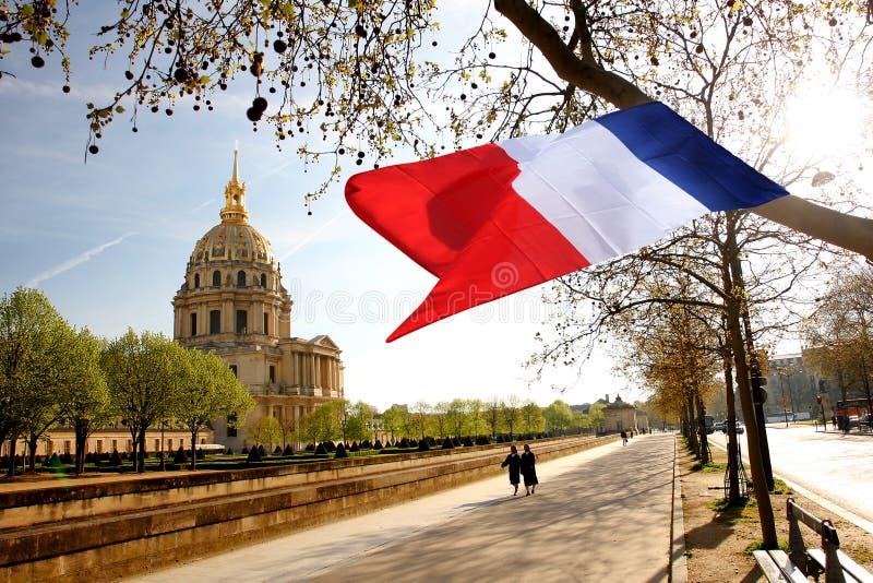 Paris, Les Invalides, Borne Limite Célèbre Photo éditorial