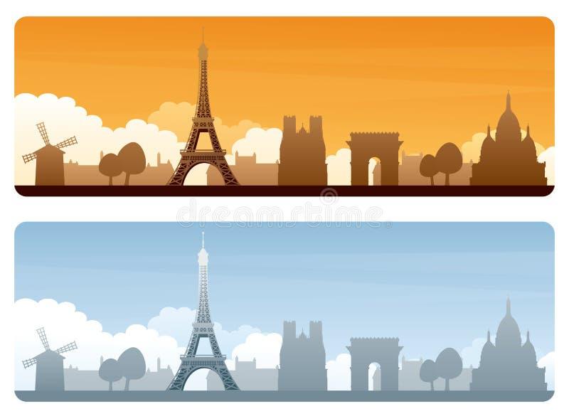 Paris lopp stock illustrationer