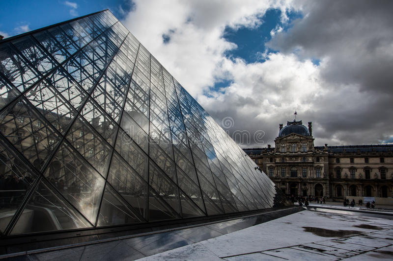 Paris-Louvre-Museum stockfoto