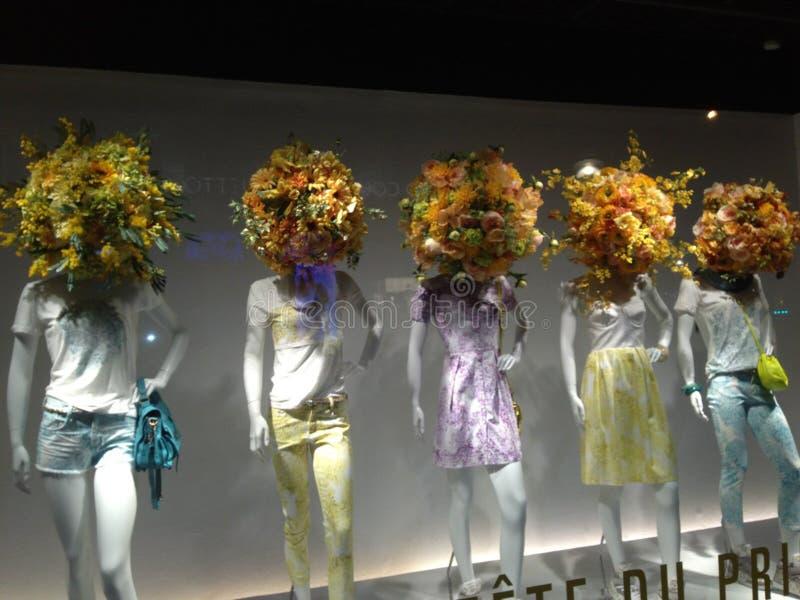 Paris, magasin, mannequins, photo stock