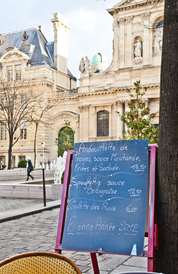 Free Paris - Menu In A Restaurant Royalty Free Stock Photography - 23072947