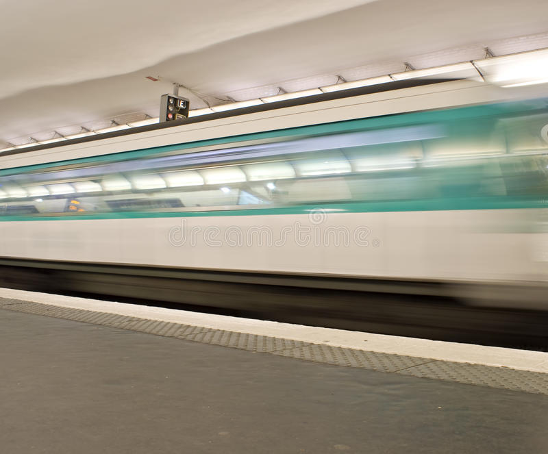 Download Paris metro stock photo. Image of public, train, moving - 10228580