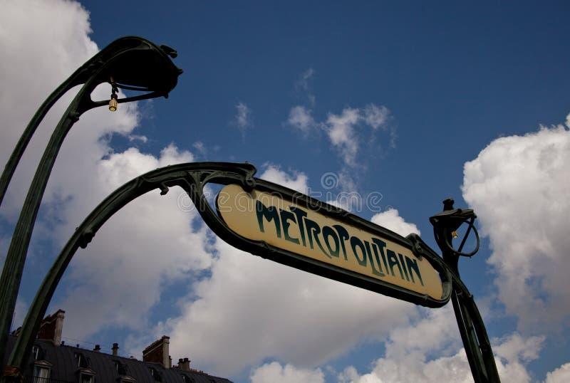 Paris Metro Sign stock photos