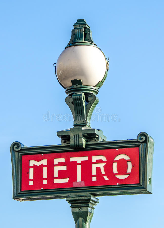 Paris Metro Sign, France stock images