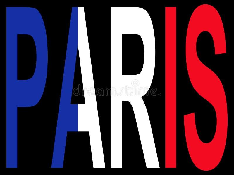 Paris miasta royalty ilustracja