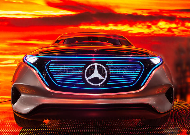 Paris Motor Show 2016 - EQ, the electric car by Mercedes stock photography