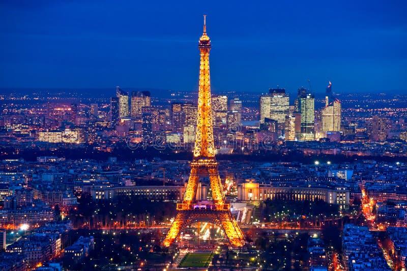 Paris na noite. foto de stock royalty free