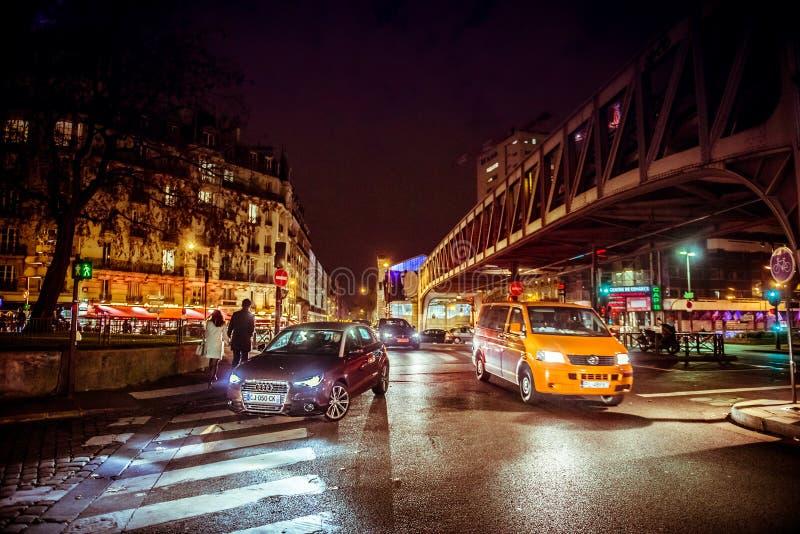 Paris na noite imagem de stock