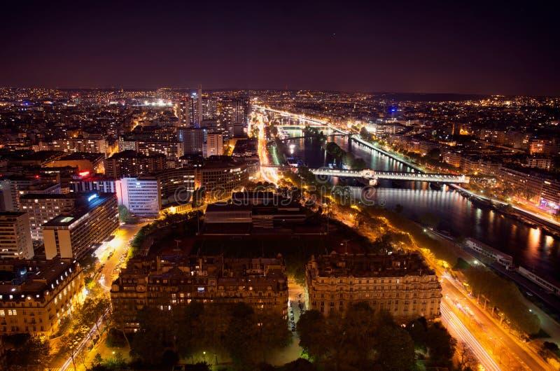 Paris-Nachtszene stockfoto