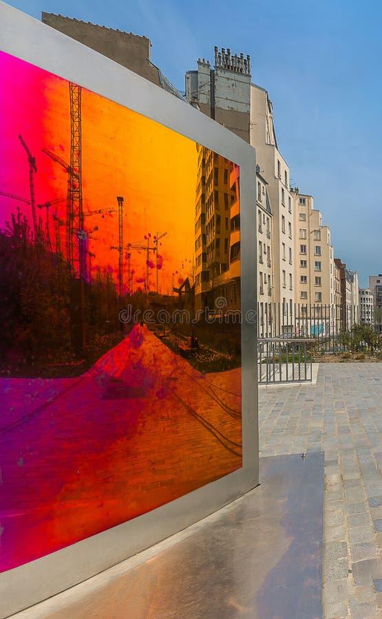 Paris - neue Viertel stockbilder
